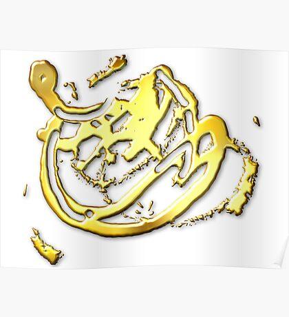 A Splash Of Gold Poster