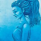 The girl with the dreads by PaperCat-Design