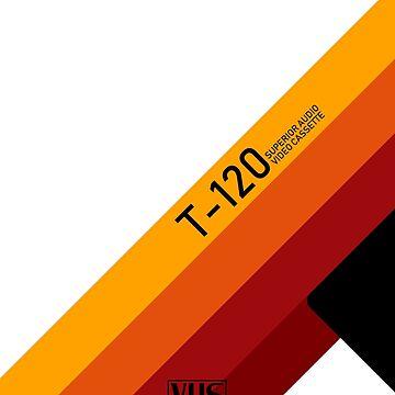 VHS Cassette Tape 90s Vaporwave Retrowave by XOXOX