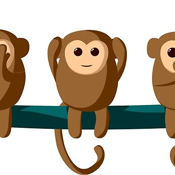 the three monkeys by Zzart