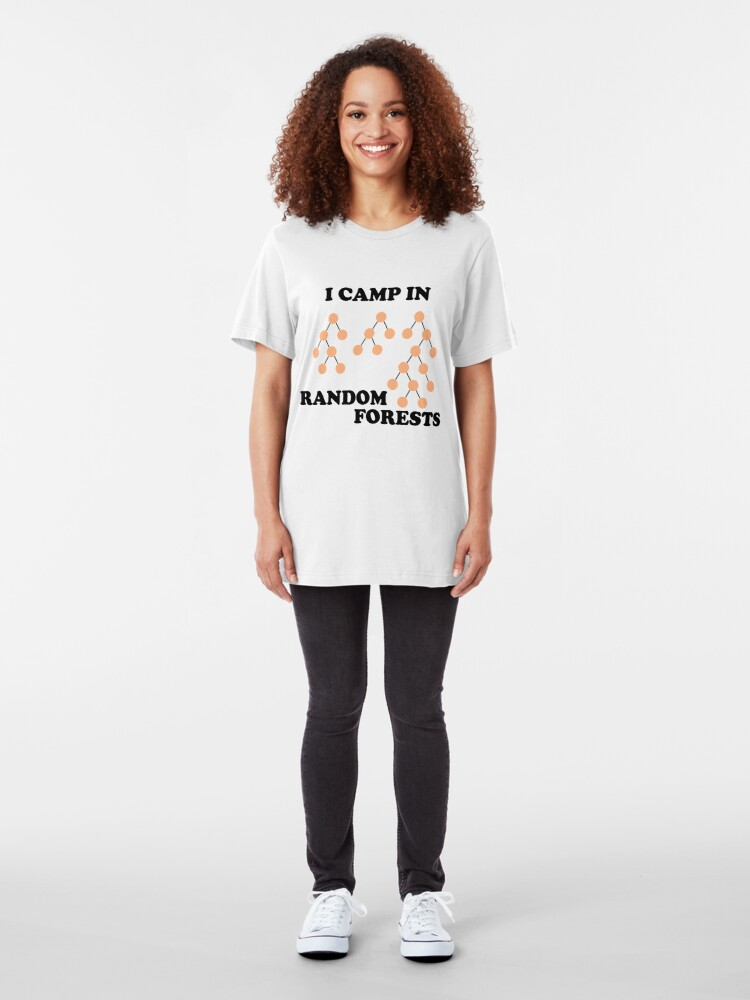 Alternate view of I Camp in Random Forests Slim Fit T-Shirt