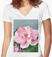 Happy Day Women's Fitted V-Neck T-Shirt