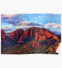 Cliffs of Sedona at Sunset Poster