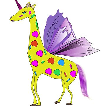 Giraffe Unicorn the mythical creature by martisanne