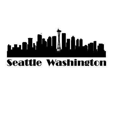 Seattle Skyline - Seattle Washington by Snug-Studios