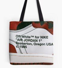 Off White for Nike Air jordan 1 Tote Bag