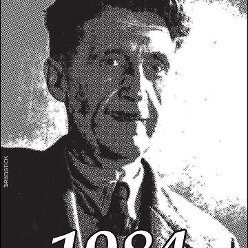 George Orwell 1984 - Black & White halftone print by thedrumstick