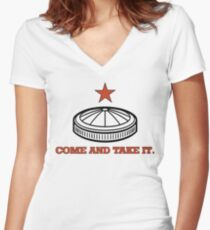 Come And Take it Astrodome Women's Fitted V-Neck T-Shirt