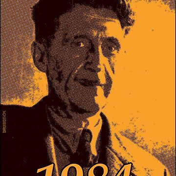 George Orwell 1984 - Gold halftone print by thedrumstick