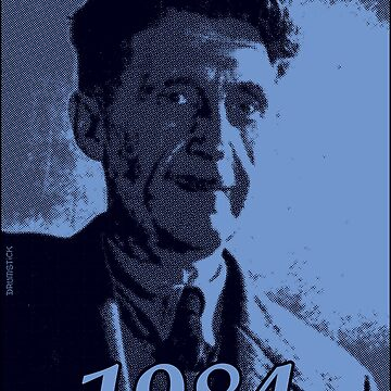 George Orwell 1984 - Blue halftone print by thedrumstick