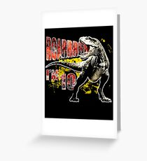 10th Birthday T Shirt 10 Year Old Dinosaurs Gift Greeting Card