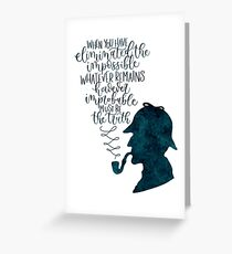 Sherlock Holmes Quote Greeting Card