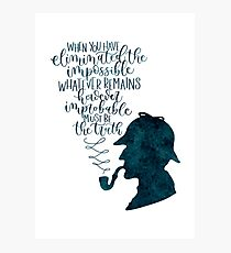 Sherlock Holmes Quote Photographic Print