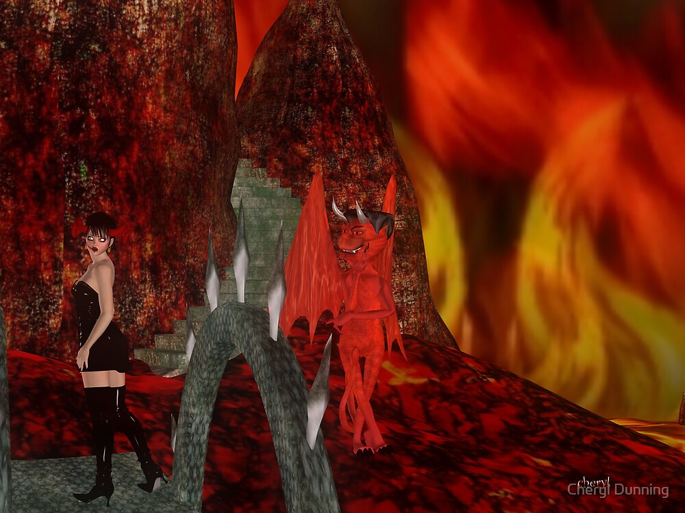 welcome to hell. by Cheryl Dunning