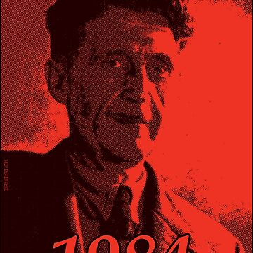 George Orwell 1984 - Red halftone print by thedrumstick