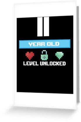 11 Year Old Level Unlocked Gift 11th Birthday By Modernmerch