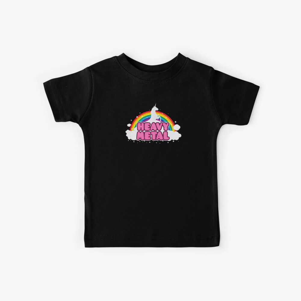 HEAVY METAL! (Funny Unicorn / Rainbow Mosh Parody Design) Kinder T-Shirt