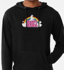 HEAVY METAL! (Funny Unicorn / Rainbow Mosh Parody Design) Leichter Hoodie
