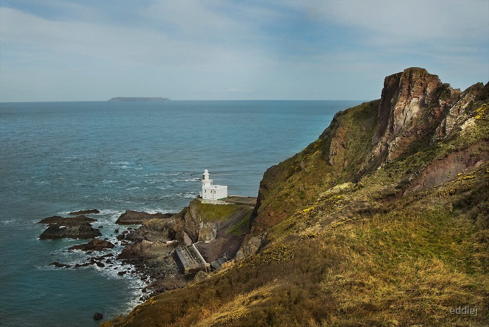 Lighthouse at Hartland Point by eddiej