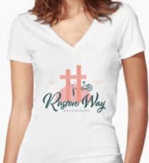 Ruston Way Tacoma Fitted V-Neck T-Shirt