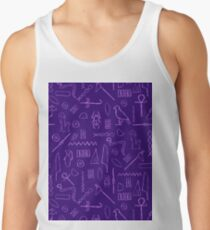 Purple Hieroglyphs Tank Top
