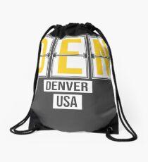 DEN - Denver Airport Code Souvenir or Gift Shirt Drawstring Bag