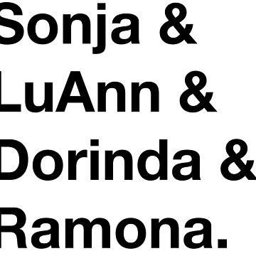 Sonja & LuAnn & Dorinda & Ramona - Real Housewives of New York (RHONY) by TheBoyHeroine