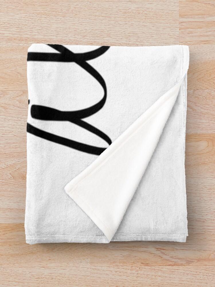 Alternate view of Aloha Hawaii Typography Throw Blanket