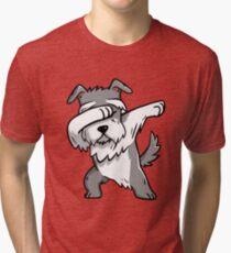 Dabbing Schnauzer Tri-blend T-Shirt