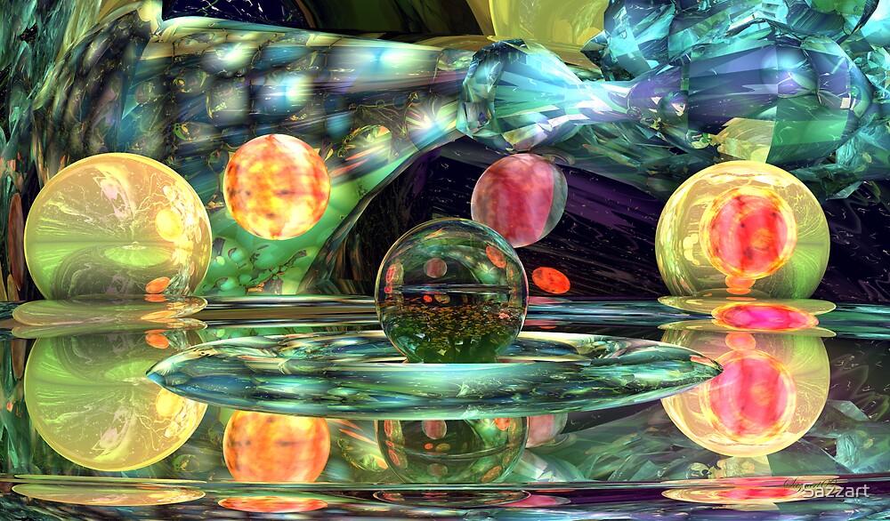 Abstract CXIIX  Lemon - Lime Anybody? by Sazzart