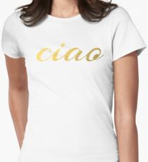 Ciao Faux Gold Foil T-Shirt