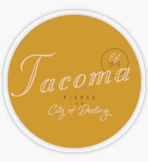 Tacoma, WA Transparent Sticker