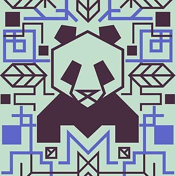 Geometric Panda by artlahdesigns