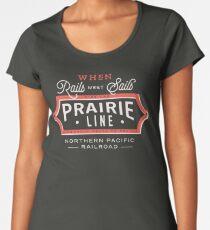 Ride the Prairie Line Premium Scoop T-Shirt