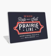 Ride the Prairie Line Laptop Skin