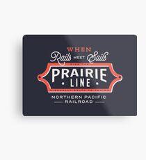 Ride the Prairie Line Metal Print