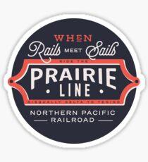 Ride the Prairie Line Sticker