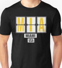 MIA - Miami Airport Code Souvenir or Gift Shirt Unisex T-Shirt