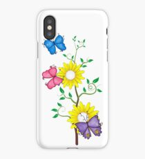 Butterflies and Flowers iPhone Case