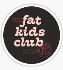 Fat Kids Club Sticker