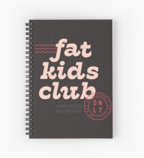 Fat Kids Club Spiral Notebook