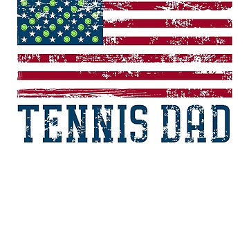 Tennis Dad Gift Funny Father's Day Player Gifts Flag by ViviLane