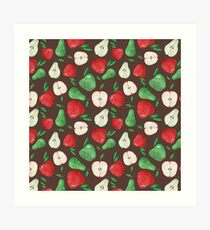 Fruity Apples and Pears Art Print
