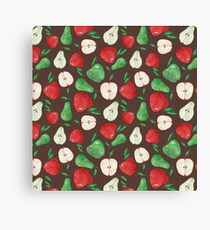 Fruity Apples and Pears Canvas Print