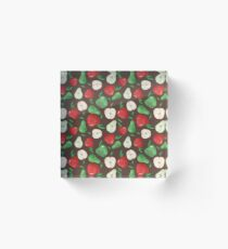 Fruity Apples and Pears Acrylic Block