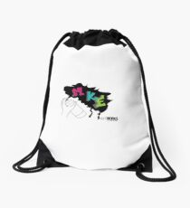 MKE Graffiti Design Drawstring Bag