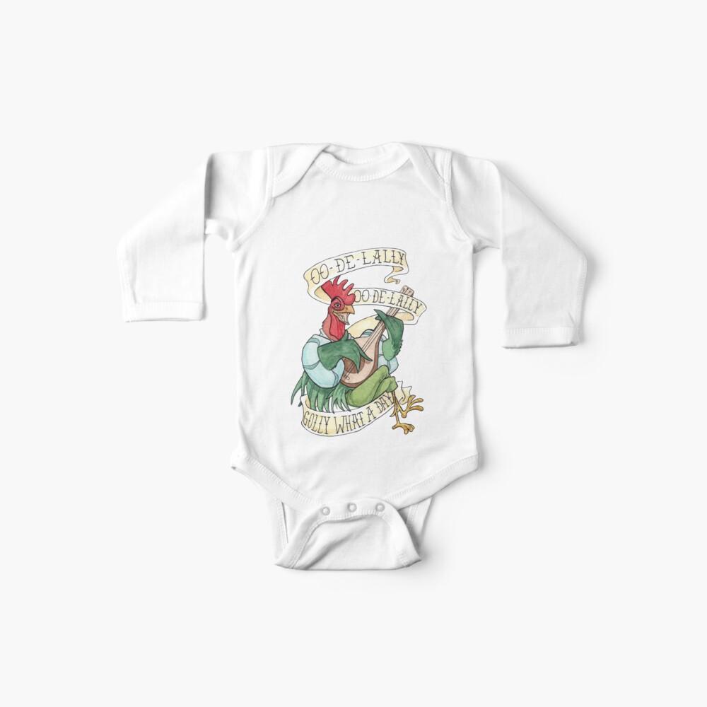 Alan-A-Dale Gallo: OO-De-Lally Golly Qué día tatuaje Acuarela Robin Hood Body para bebé