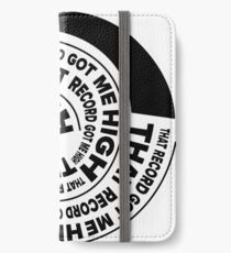 That Record Got Me High Podcast Reverse Logo iPhone Wallet/Case/Skin