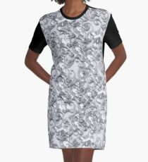 Silvery Graphic T-Shirt Dress