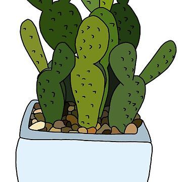 cute cactus in blue pot by andilynnf